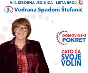 Vedrana Spadoni Štefanić - izbori 2020.
